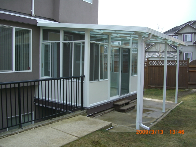 Double glazing sunroom with extension cover
